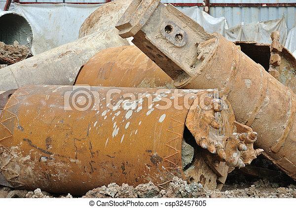 裝置, 開掘, 堆, 螺旋轉 - csp32457605