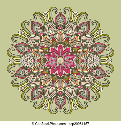 裝飾品, mandala., pattern., 輪 - csp20981157