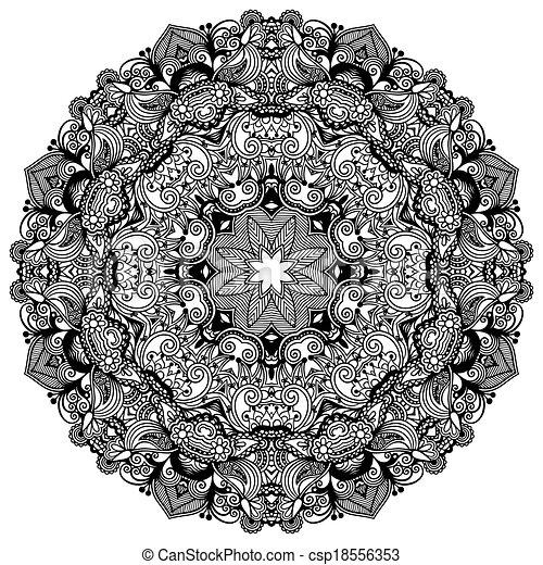 裝飾, 帶子, 裝飾品, 圖案, 環繞, 黑色, 彙整, 幾何學, 小墊布, 白色, 輪 - csp18556353