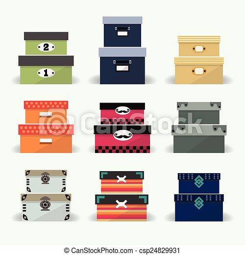 裝飾, 箱子, 鮮艷, 多樣混合 - csp24829931