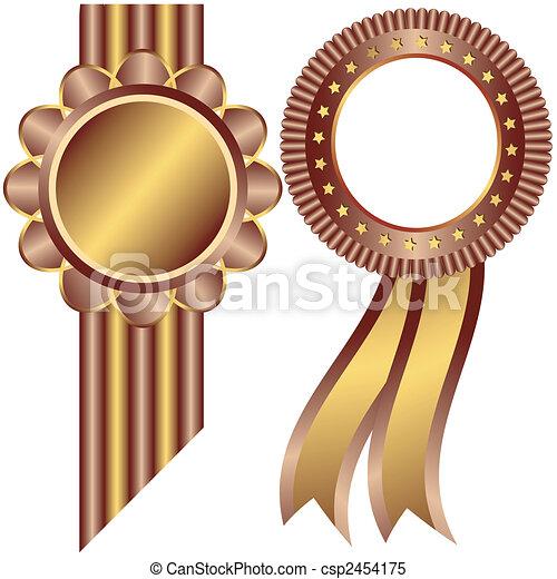 裝飾, 黃金, 咖啡, 框架, (vector) - csp2454175
