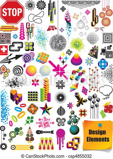 要素, デザイン, コレクション - csp4855032