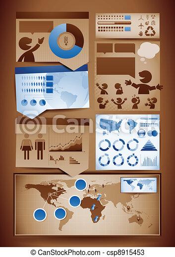 要素, デザイン, infographics - csp8915453