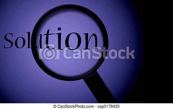 見つけること, 解決 - csp0178433