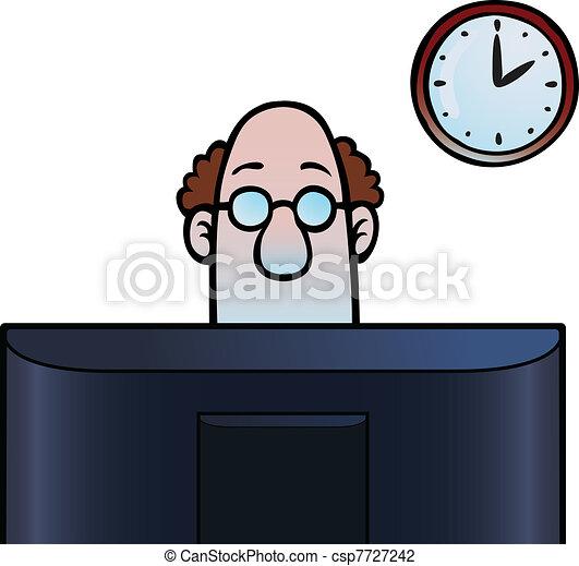 見る, スクリーン, コンピュータ, 人 - csp7727242