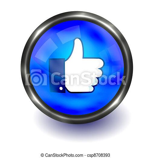 親指, 編集, の上, button., ベクトル, 容易である - csp8708393