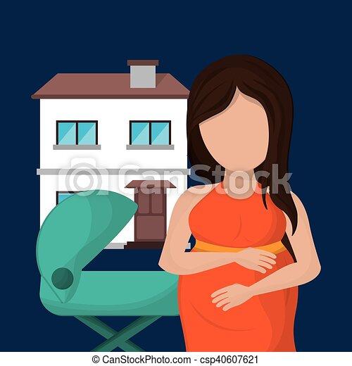 親, 単一, イメージ, 家族 - csp40607621