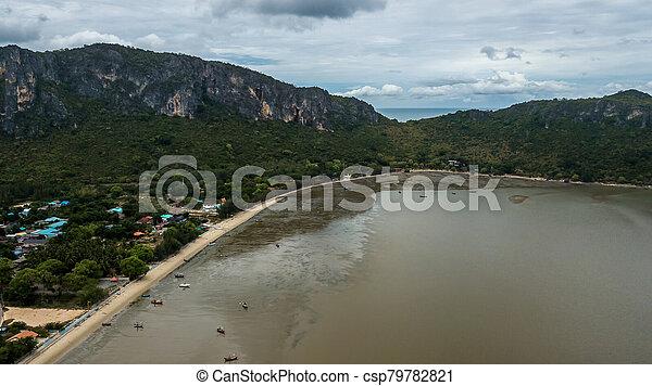 角度, 高く, 写真, 風景, 空中写真, 海岸, 浜 - csp79782821