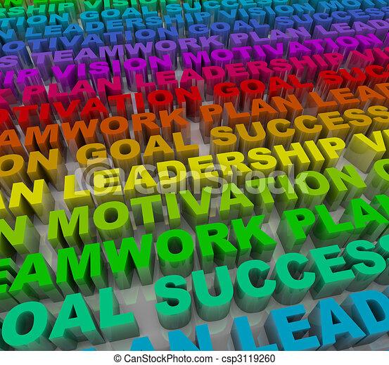言葉, -, カラフルである, 成功, 原則 - csp3119260