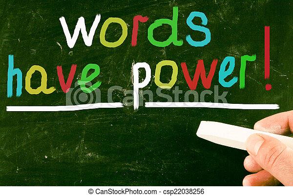 言葉, 持ちなさい, power! - csp22038256