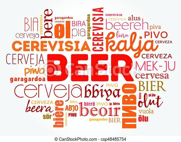 言語, 世界, 別, ビール - csp48485754