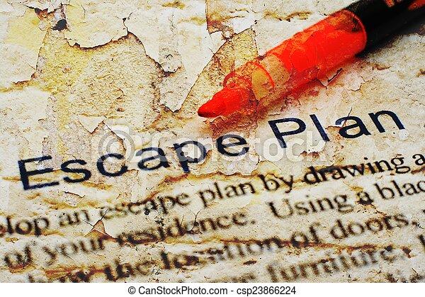 計画, 脱出 - csp23866224