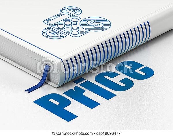計算機, マーケティング, 価格, 本, 背景, 白, concept: - csp19096477