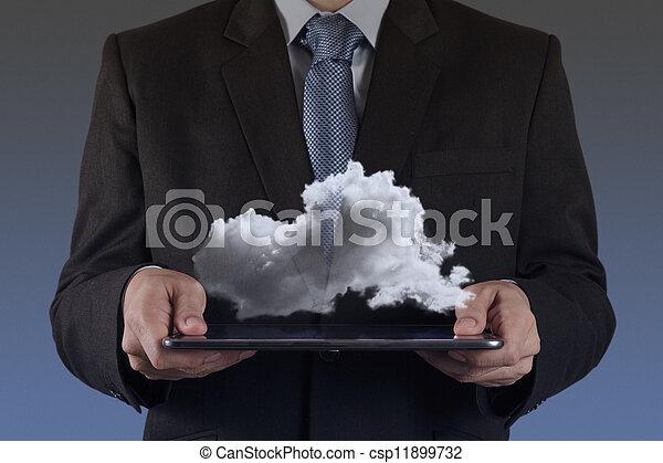計算, 圖形, 電腦, 接口, 新, 雲 - csp11899732