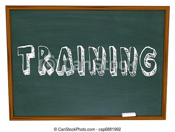 訓練, 詞, 得到, 技能, -, 黑板, 訓練, 新 - csp6881992