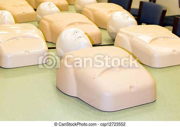 訓練, cardiopulmonary, 人體模型, cpr, 復活, 類別 - csp12723552