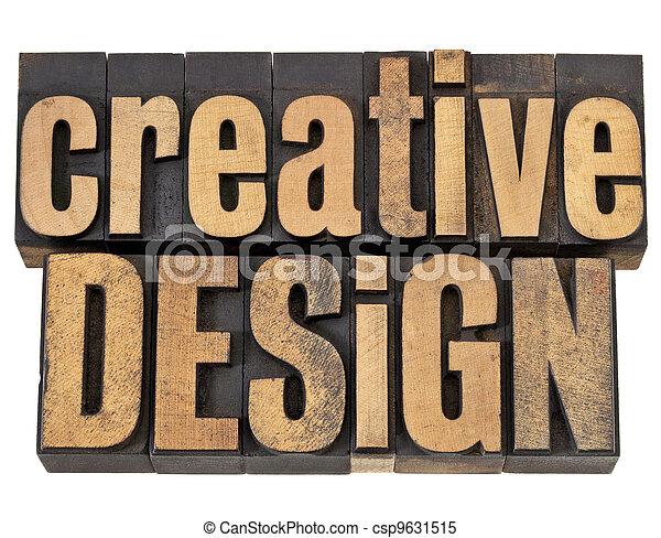 設計, 木頭, 類型, 創造性 - csp9631515