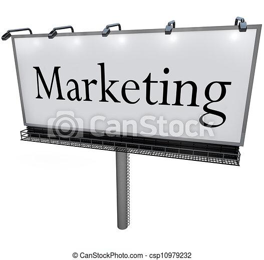 詞, 銷售, 簽署, 做廣告, 廣告欄, 促進 - csp10979232