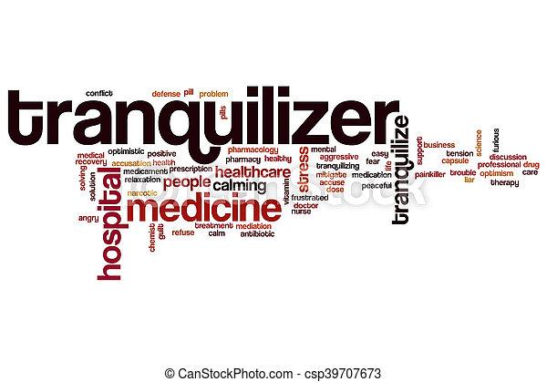 詞, tranquilizer, 雲 - csp39707673
