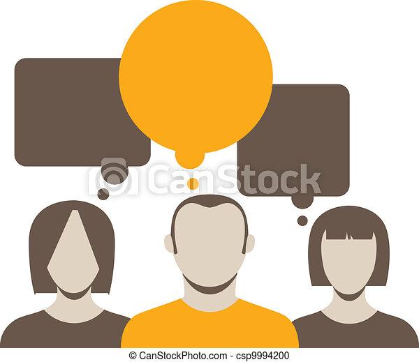 話し, 抽象的, コレクション, 人々 - csp9994200