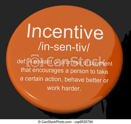 誘惑, 動機づけ, 定義, ボタン, 刺激, 奨励, ショー - csp9530794