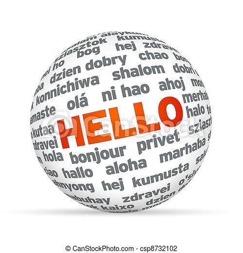 語言, 不同, 你好 - csp8732102