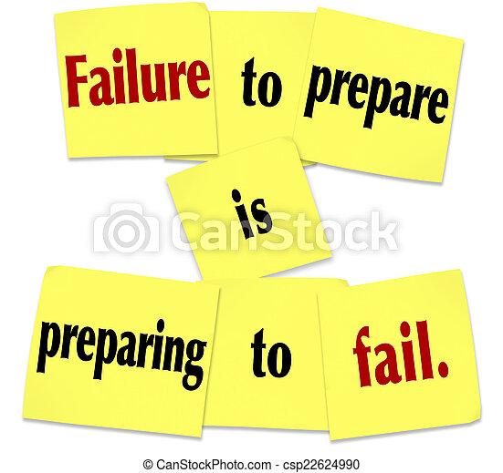 說, 準備, 粘的注釋, 失敗, 準備, 失敗 - csp22624990