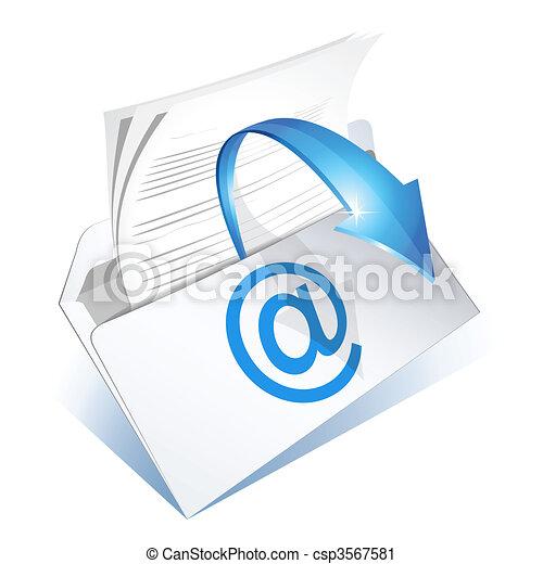 読まれた, 電子メール - csp3567581