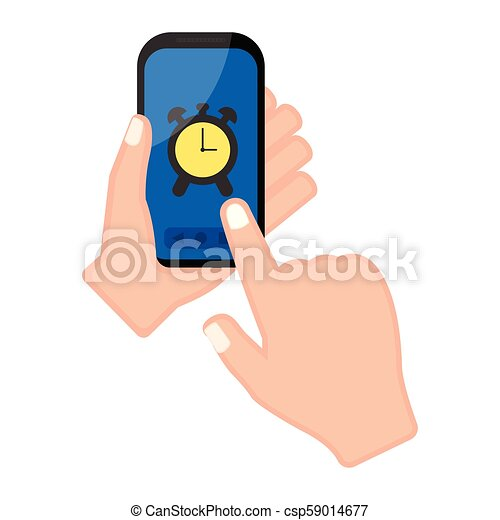 警報, smartphone, app, 手を持つ - csp59014677