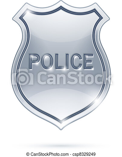 警察は badge - csp8329249