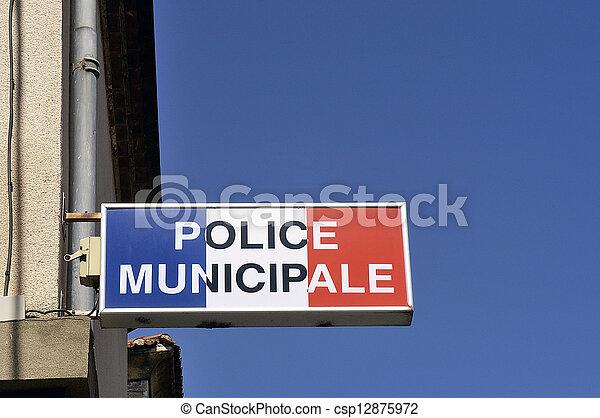 警察, 市の, オフィス - csp12875972