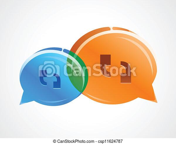 議論, 泡, 話 - csp11624787
