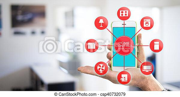 设备, 家, 控制, -, 聪明 - csp40732079