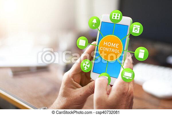 设备, 家, 控制, -, 聪明 - csp40732081