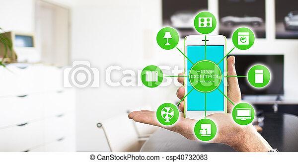 设备, 家, 控制, -, 聪明 - csp40732083