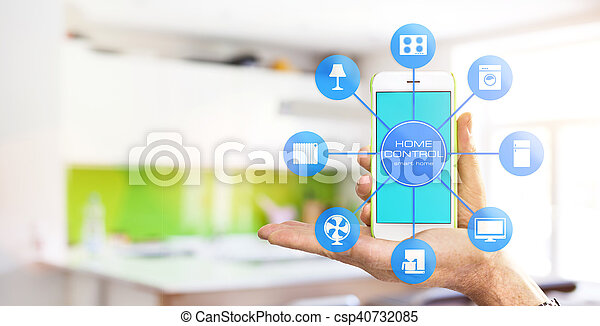 设备, 家, 控制, -, 聪明 - csp40732085