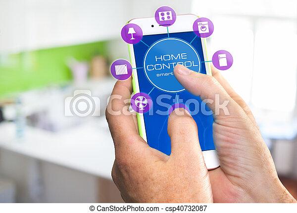 设备, 家, 控制, -, 聪明 - csp40732087