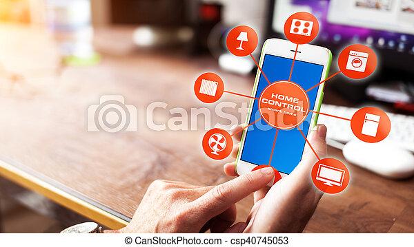 设备, 家, 控制, -, 聪明 - csp40745053
