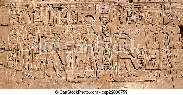 象形文字, エジプト人 - csp22038759