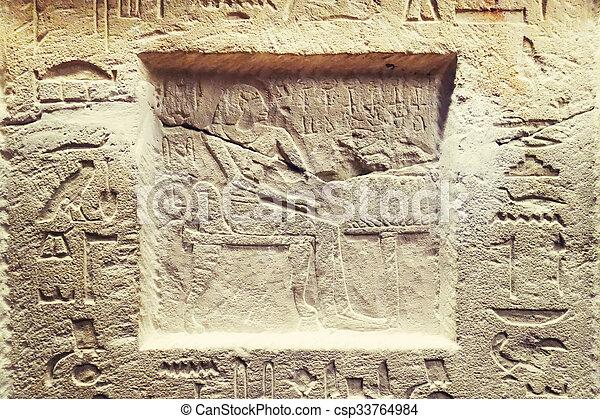 象形文字, エジプト人 - csp33764984