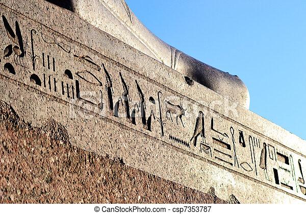象形文字, エジプト人 - csp7353787