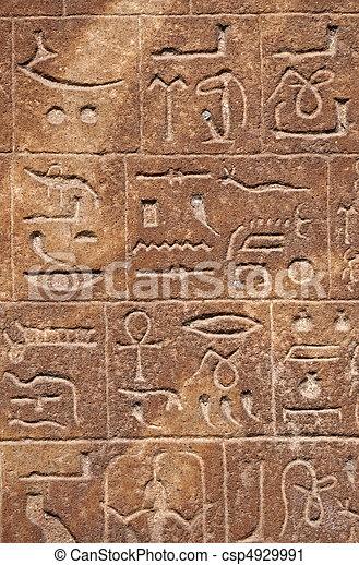 象形文字, 背景, エジプト人 - csp4929991
