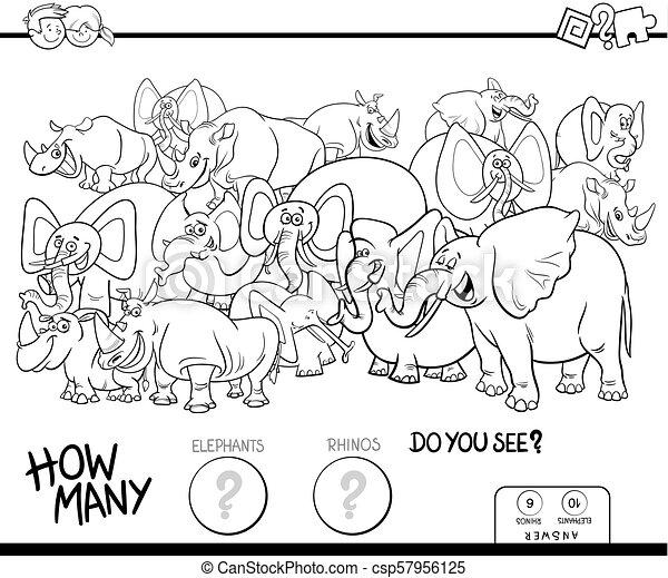 象, 色, サイ, ゲーム, 本, 数える - csp57956125