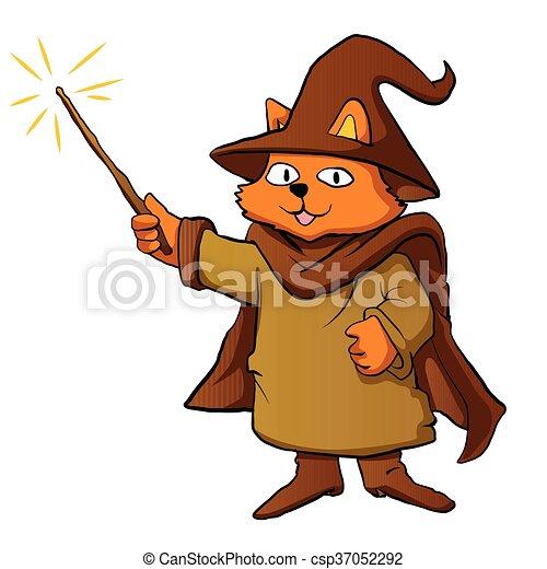貓, 巫術師 - csp37052292