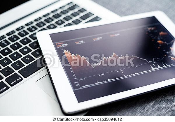 財政, スクリーン, コンピュータ, srat - csp35094612