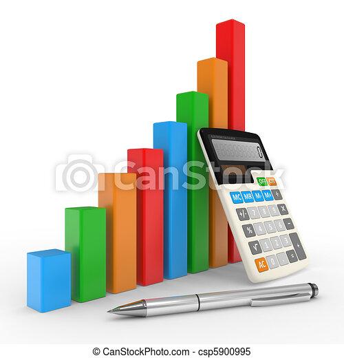 財政, ビジネス, 成功, 提示, チャート, 市場, 株 - csp5900995