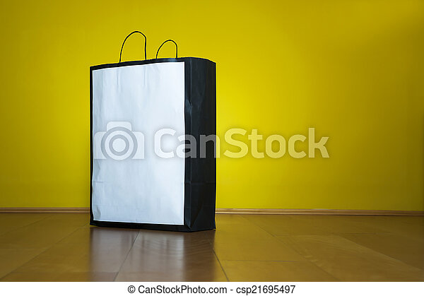 買い物, スペース, 木製の床, 袋, コピー - csp21695497