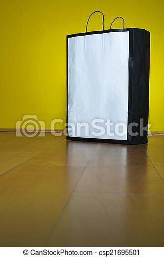買い物, スペース, 木製の床, 袋, コピー - csp21695501