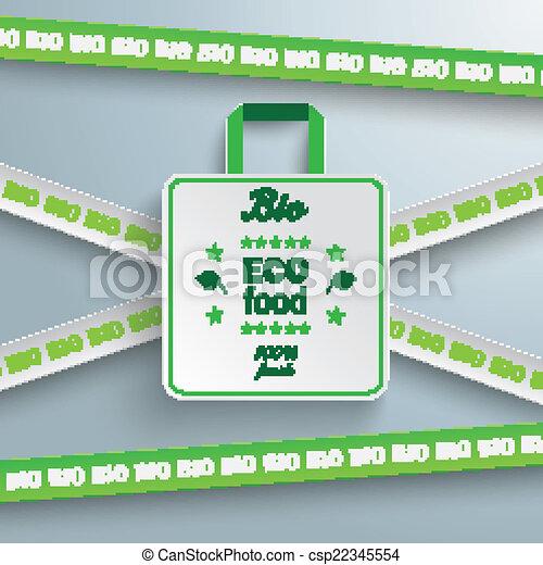 買い物, マーカー, セール, 袋, ライン, bio - csp22345554