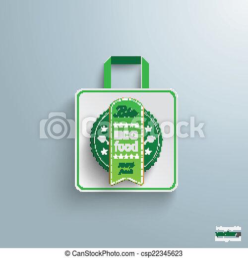 買い物, マーカー, セール, 袋, bio - csp22345623